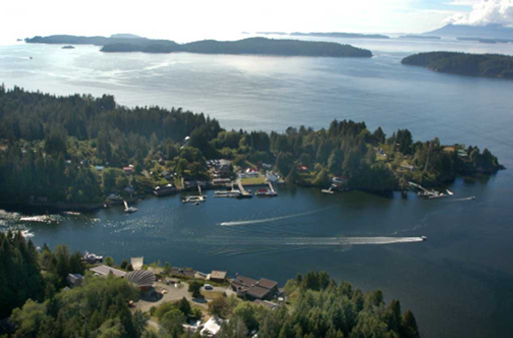 Bamfield Harbour from the air